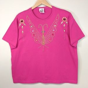 Vintage 80's Oversized Bedazzled TShirt